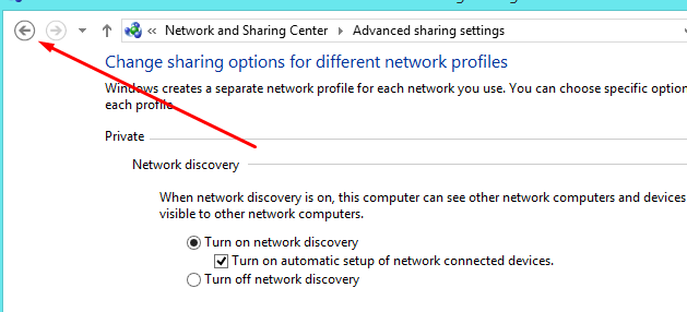 Change advanced sharing back