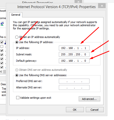 Internet Protocal version 4 (TCP/IPv4) IP Set