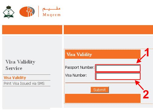 visa validity checking