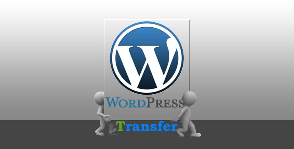 Wordpress website server to server transfer