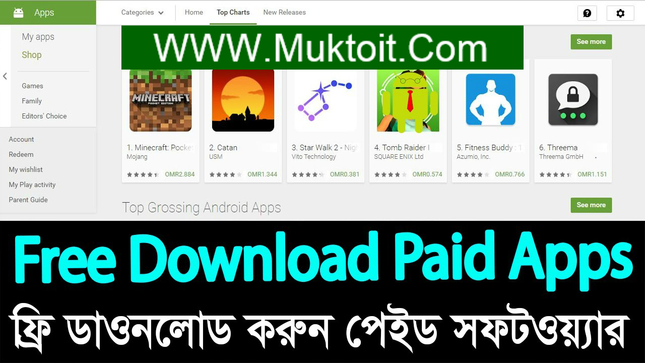 Download Playstore paid apps for free