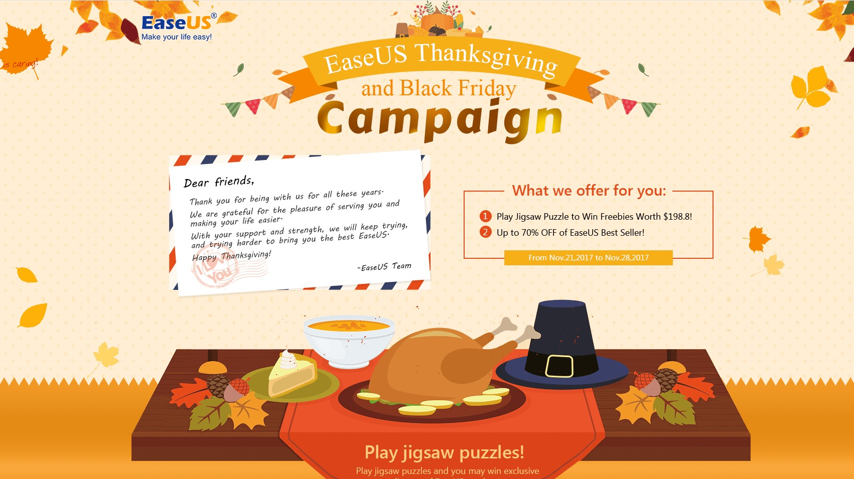 EaseUs thanksgiving-campaign